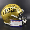 NFL - Multi Signed Gold 100 Helmet signed by members of 100 All Time Team Including Peyton Manning, Ronnie Lott, Randy White, Allen Page, Rod Woodson, Jim Otto, John Randle and more
