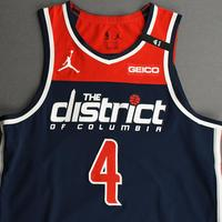 Russell Westbrook - Washington Wizards - Kia NBA Tip-Off 2020 - Game-Worn 1st Half Statement Jersey - Recorded a Triple-Double