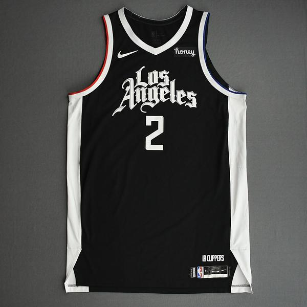 Image of Kawhi Leonard - Los Angeles Clippers - Game-Worn City Edition Jersey - Recorded a Double-Double - 2021 NBA Playoffs