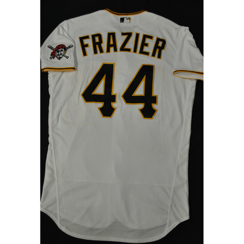 Photo of Hank Aaron Chasing the Dream Foundation: Adam Frazier 2021 MLB All-Star Workout Day BP-Worn # 44 Jersey