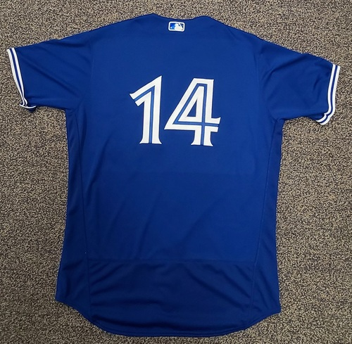 Photo of Authenticated Team Issued Spring Training Jersey: #14 Tanner Roark (2021 Season). Size 48.
