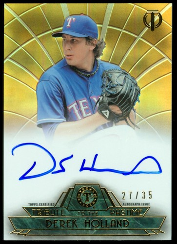 Photo of 2014 Topps Tribute Tribute to the Pastime Autographs Sepia #TPTDH Derek Holland