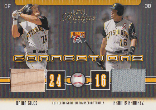 Photo of 2003 Playoff Prestige Connections Materials #52 Brian Giles Bat/Aramis Ramirez Jsy