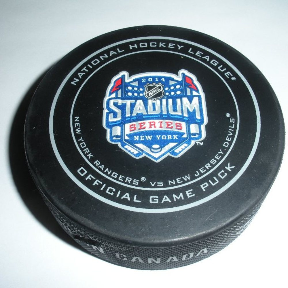2014 Stadium Series - Rangers vs Devils - Game Puck - Second Period - 2 of 3