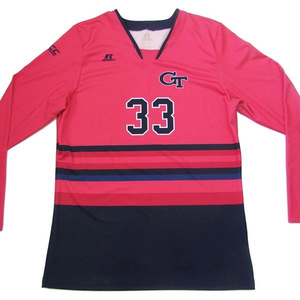 Photo of Georgia Tech 2016 Women's Volleyball Pink #33 Game Worn Jersey (XXL)
