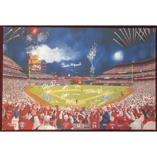 "Photo of 2008 Phillies ""Phinally"" Autographed Giclee - Not MLB Authenticated"