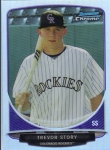 Photo of 2013 Bowman Chrome Cream of the Crop Mini Refractors  Trevor Story