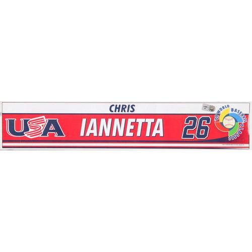 Photo of 2009 WBC: USA Game-Used Locker Name Plate - #26 Chris Iannetta