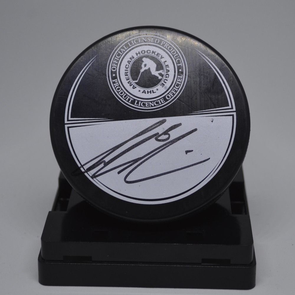 2015 AHL All-Star Classic Souvenir Puck Signed by #6 Colin Miller