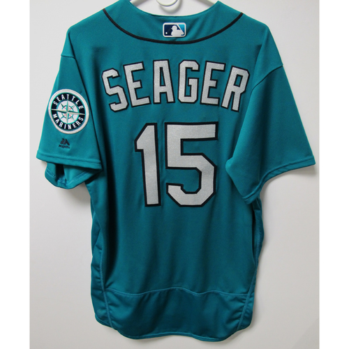 Photo of Seattle Mariners Kyle Seager 2018 Game Used Green Jersey (5/25/18 vs. Twins)