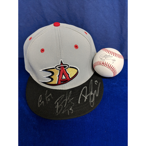 Photo of Anaheim Ducks Autographed Baseball (Cogliano) and Hat (Getzlaf, Kesler, Perry) Package