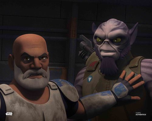 Zeb Orrelios and Captain Rex