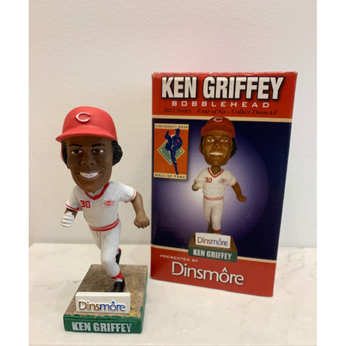 Photo of Ken Griffey, Sr. Autographed Reds Hall of Fame Bobblehead