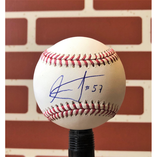 Photo of Ariel Jurado Autographed Final Season Logo Baseball
