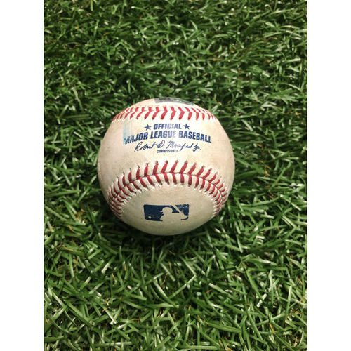 Photo of Game Used Baseball: Charlie Morton strikes out Miguel Cabrera - August 16, 2019 v DET