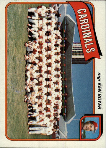 Photo of 1980 Topps #244 St. Louis Cardinals CL/Ken Boyer MG