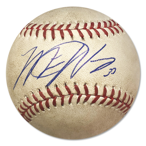 Photo of Matt Harvey Autographed Game Used Baseball - Matt Harvey to Jayson Werth - Pitch in the Dirt - 6th Inning - Mets vs. Nationals - 5/1/15