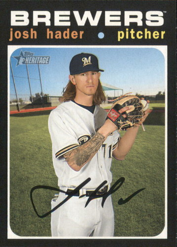 Photo of 2020 Topps Heritage #87 Josh Hader