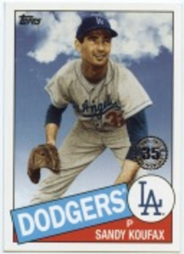 Photo of 2020 Topps '85 Topps #8555 Sandy Koufax