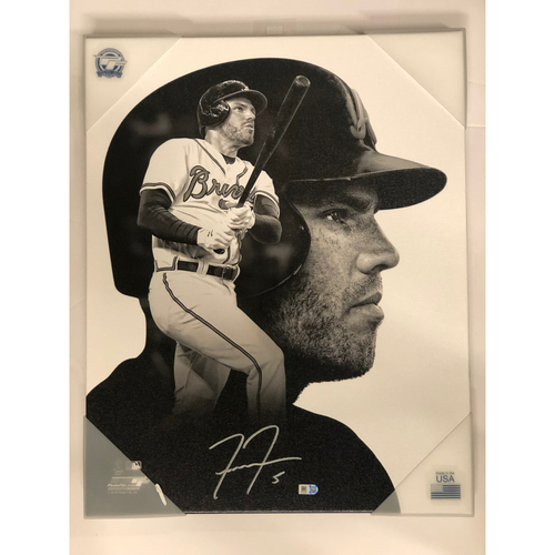 Photo of Freddie Freeman Autographed Canvas Portrait