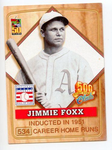 Photo of 2001 Post 500 Club #3 Jimmie Foxx