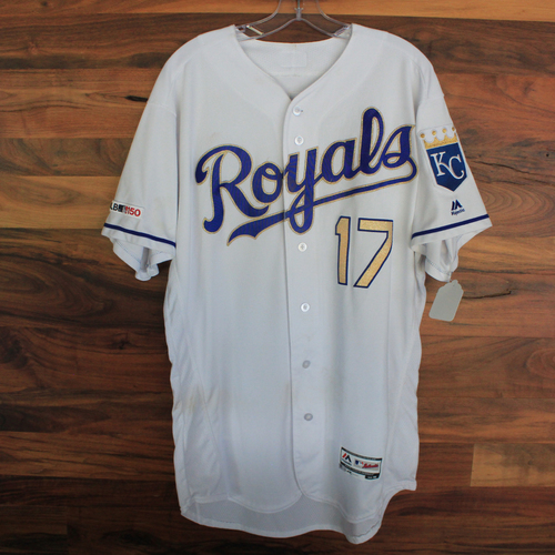 Game-Used Jersey: Hunter Dozier (MIN @ KC 9/27/19)