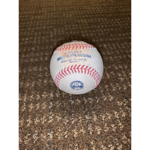 Photo of Brent Rooker MLB Debut Day Game-Used Baseball