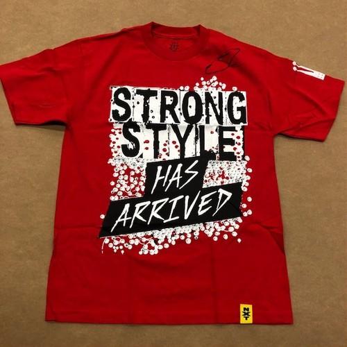 """Photo of Shinsuke Nakamura SIGNED """"Strong Style Has Arrived"""" Authentic T-Shirt"""
