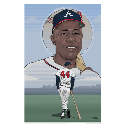 Photo of Hank Aaron - Braves Art in the Park Poster by Rob Generette III