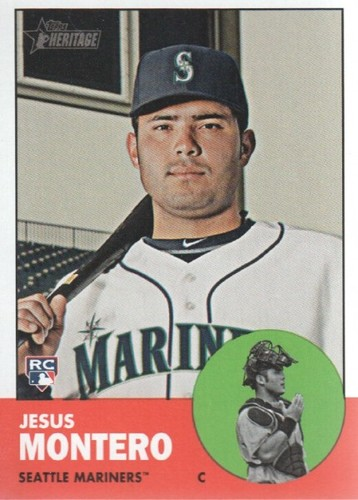 Photo of 2012 Topps Heritage #60A Jesus Montero