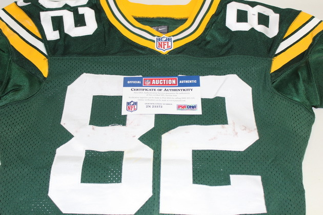 NFL Auction | STS - PACKERS RICHARD RODGERS GAME WORN PACKERS ...