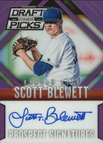 Photo of 2014 Panini Prizm Perennial Draft Picks Prospect Signatures Prizms Purple #56 Scott Blewett