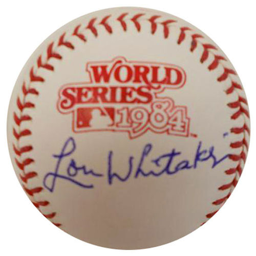 Photo of Lou Whitaker Autographed Baseball-1984 World Series Ball