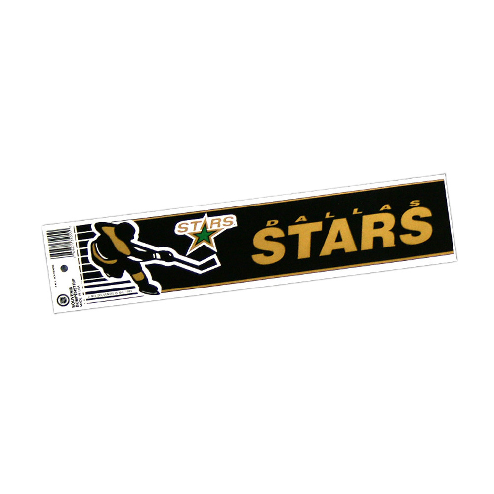Vintage NHL DALLAS STARS Bumper Sticker - Unused - NOS - NM - STYLE B