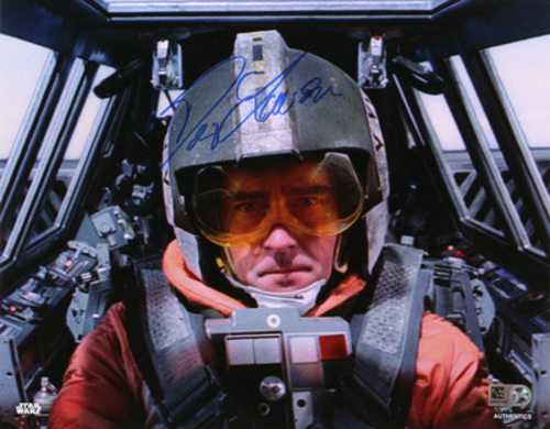 Denis Lawson as Wedge Antilles Autographed In Blue Ink 8x10 Photo
