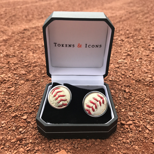 Photo of San Francisco Giants - Tokens and Icons - Game-Used Ball Cuff Links