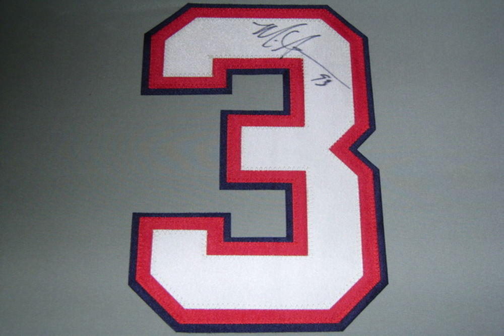 BILLS - MARK ANDERSON SIGNED JERSEY NUMBER