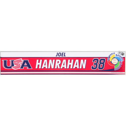 Photo of 2009 WBC: USA Game-Used Locker Name Plate - #38 Joel Hanrahan