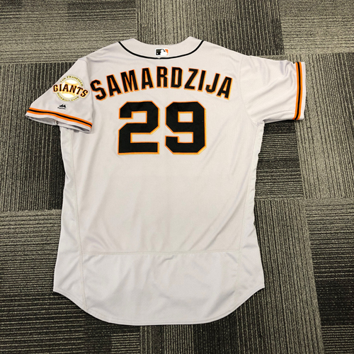 Photo of San Francisco Giants -2017 Game-Used Road Alternate Jersey worn by #29 Jeff Samardzija