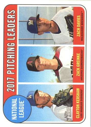 Photo of 2018 Topps Heritage #10 Zach Davies/Clayton Kershaw/Zack Greinke LL