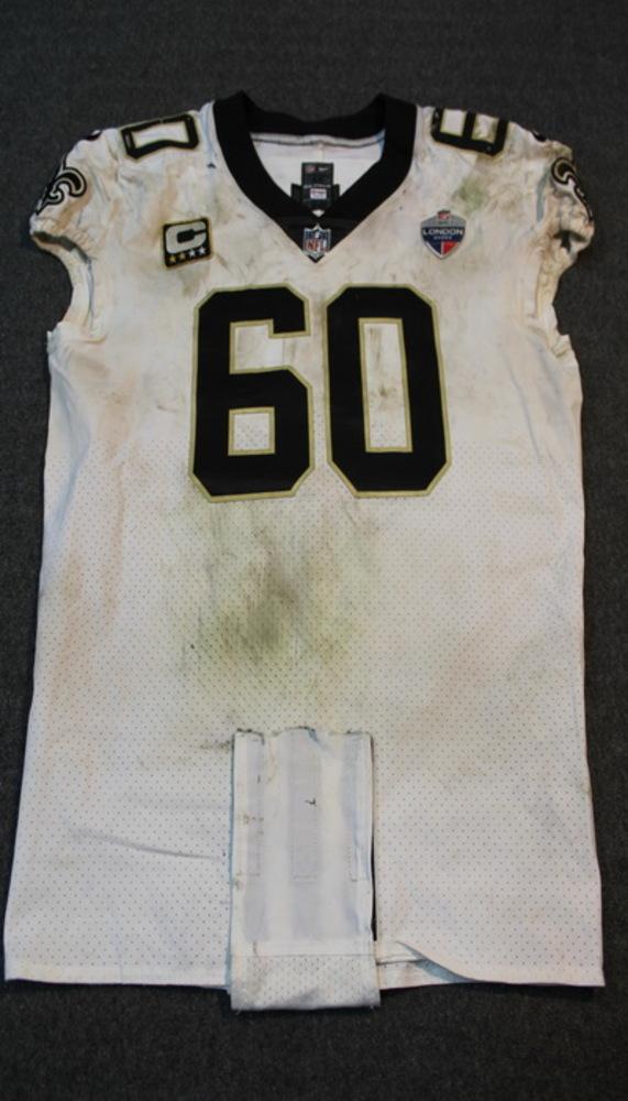 NFL Auction | Sport Relief - Saints Max Unger game worn Saints ...