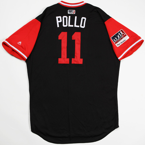 "Photo of A.J. ""Pollo"" Pollock Arizona Diamondbacks Game-Used Players' Weekend Jersey"