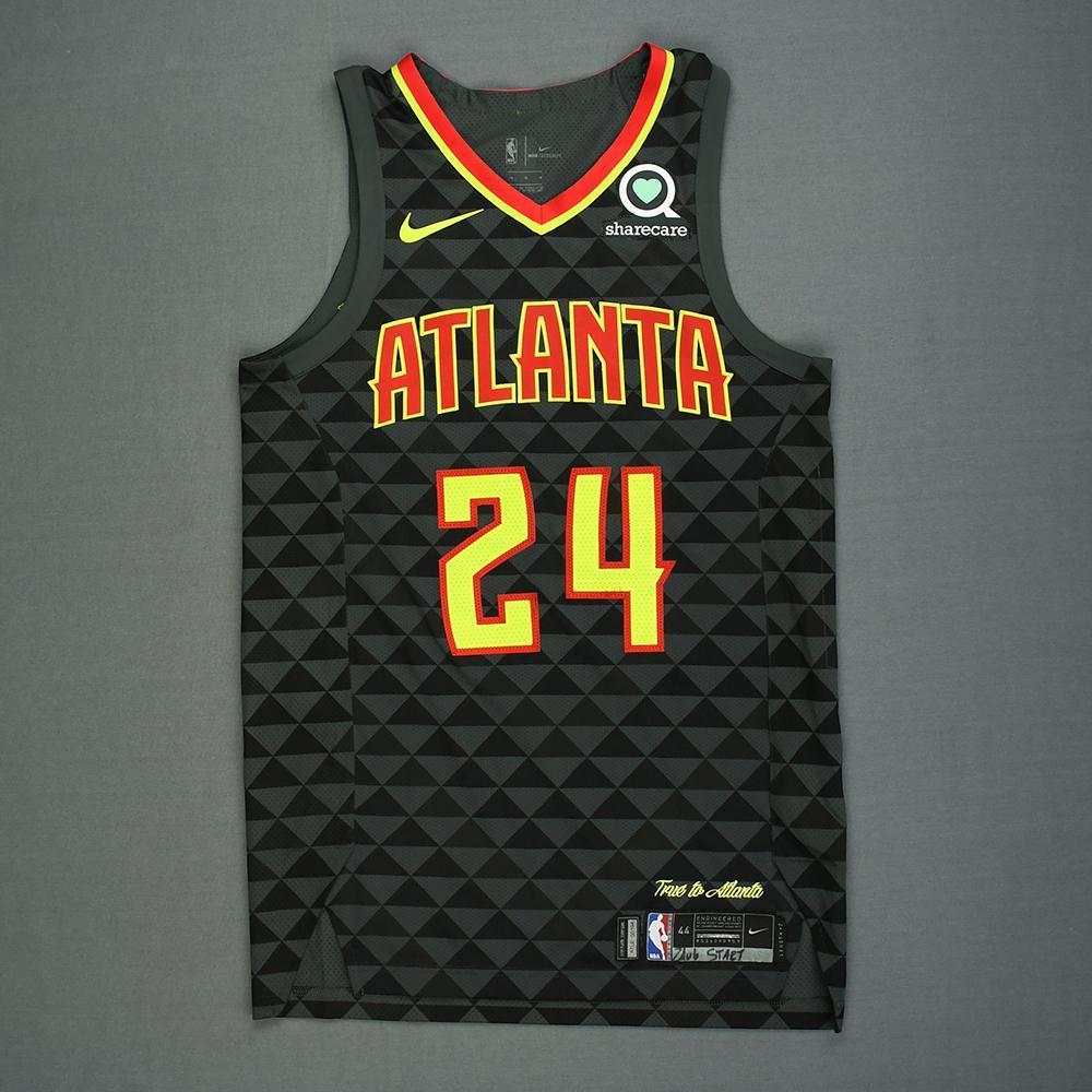 Kent Bazemore - Atlanta Hawks - Kia NBA Tip-Off 2018 - Game-Worn Icon Edition Jersey