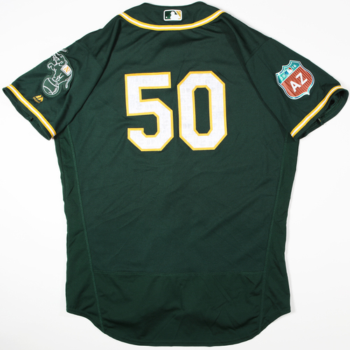 2016  Spring Training -  Game-Used Jersey - Ryan Brasier (A's) - Size 48
