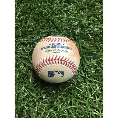 Photo of Game Used Baseball: Jody Mercer RBI double off Peter Fairbanks - August 16, 2019 v DET