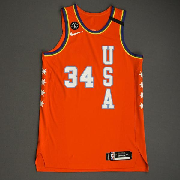 Image of Wendell Carter Jr. - 2020 NBA Rising Stars - Team USA - Game-Issued 1st Half Jersey