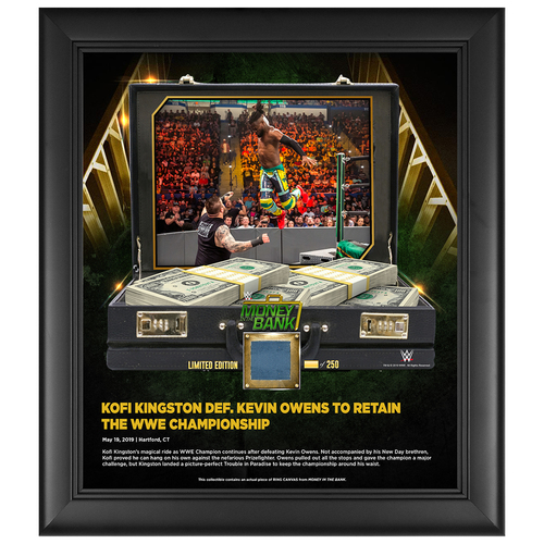 Photo of Money In The Bank 2019 Kofi Kingston Limited Edition 15x17 Plaque (#1 of 250)
