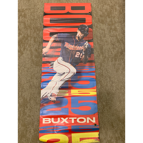 Photo of 2019 Minnesota Twins Team-Issued Street Banner - Byron Buxton