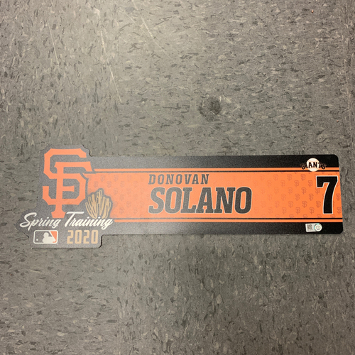 Photo of 2020 Team Issued Spring Training Locker Tag - #7 Donovan Solano