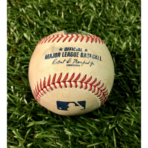 Photo of Game Used Baseball: Jose Peraza single off Diego Castillo - August 5, 2020 v BOS